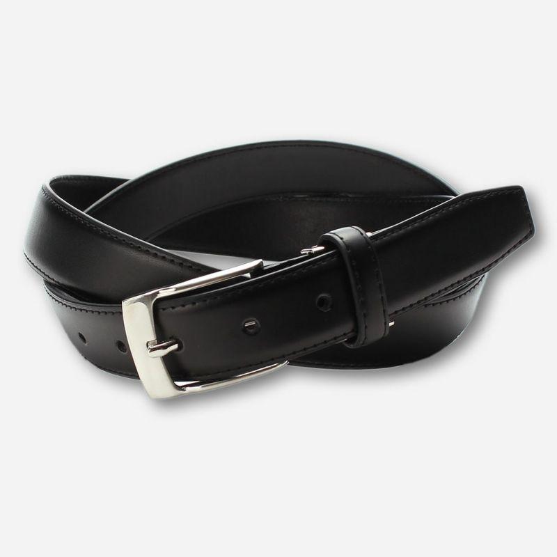 ベルト牛革本革ブラック黒メンズビジネス型押し